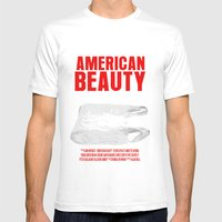 American Beauty Movie Poster Mens Fitted Tee White SMALL