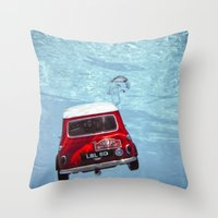deep water swimming mini #1 Throw Pillow