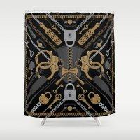 S&M Scarf Print Shower Curtain