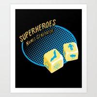 Super-Heroes-Name-Genera… Art Print