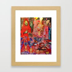 Spooky Action At A Distance Framed Art Print