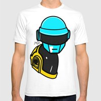 Daft Punk Mens Fitted Tee White SMALL