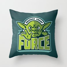 Dagobah Swamp Force - Teal Throw Pillow