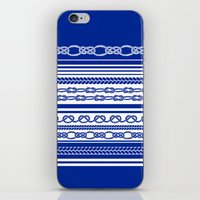 NAUTIC KNOTS: COBALT BLUE iPhone & iPod Skin