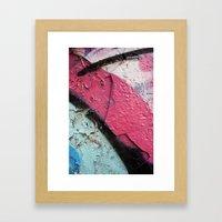 Pink Curve Framed Art Print