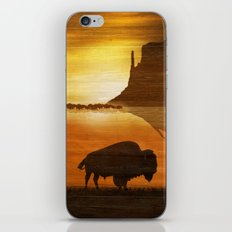 The lonely bison iPhone & iPod Skin