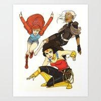 Heroines Redesign Art Print