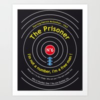 The Prisoner - Patrick McGoohan Vintage Decoration Print Posters Art Print