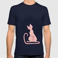 Cats With Tats Mens Fitted Tee Navy SMALL