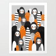 Art Print featuring Halloween Spirits by Elisabeth Fredriksso…