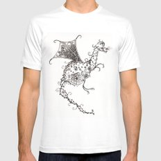 Garden Dragon White Mens Fitted Tee SMALL