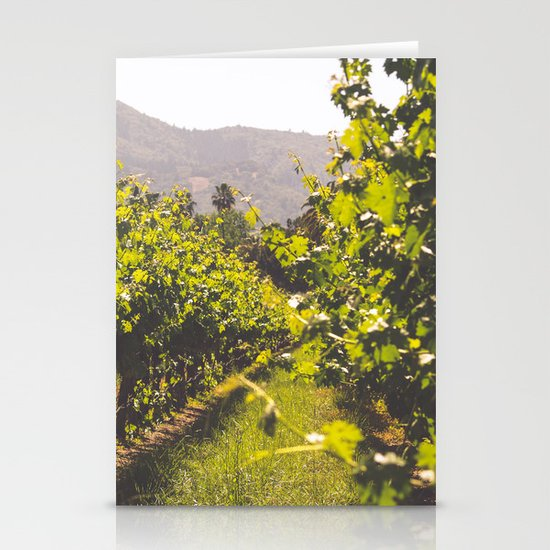 Vineyards 4 Stationery Card