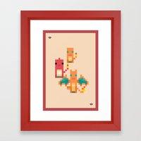 Red Family Framed Art Print