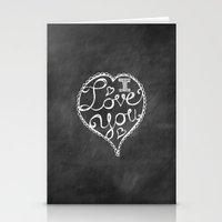I Love You Chalkboard Stationery Cards