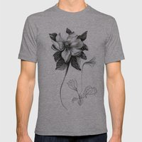 Flowers 2 Mens Fitted Tee Athletic Grey SMALL