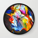 cellophane flowers Wall Clock