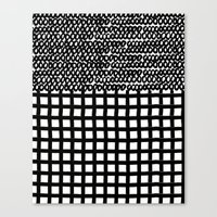 Circles and Grids Canvas Print