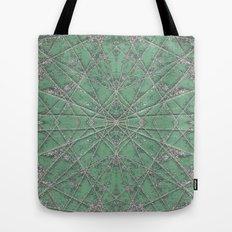 Snowflake Mint Tote Bag