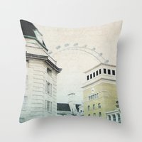 Letters From The London Eye Throw Pillow