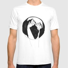 moonlight hands Mens Fitted Tee SMALL White
