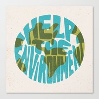 Help The Environment Canvas Print
