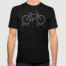 Treebike Mens Fitted Tee Tri-Black SMALL