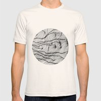 Lines #1 Mens Fitted Tee Natural SMALL