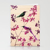 Birds And Orchids Stationery Cards