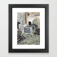 Empty Chair Framed Art Print