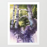 Bluebell Wood Painting, … Art Print