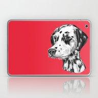 Dalmatian Red  Laptop & iPad Skin