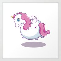 UNICORNS ARE KEWL  Art Print