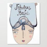 Canvas Print featuring prototype by Fabulous Poufs Shop