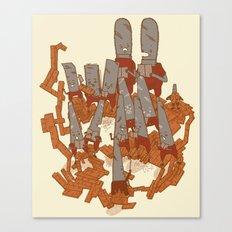 Musical saws Canvas Print