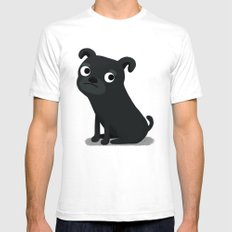 Pug - Cute Dog Series Mens Fitted Tee White SMALL