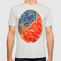 Just Gazing Mens Fitted Tee Silver SMALL