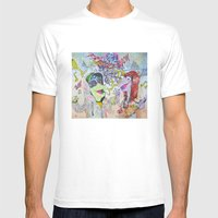 Fraggle Cock Mens Fitted Tee White SMALL