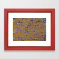 Pastel Map Framed Art Print