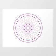 Anime Magic Circle 15 Art Print