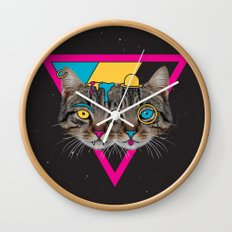 Our New Feline Overlords Wall Clock