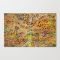 The Land Of What We See … Canvas Print