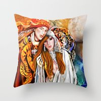 Twin Flame  Throw Pillow