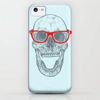 iPhone 5c Cases featuring Smart-Happy Skully by Rachel Caldwell