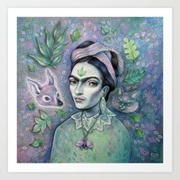 Magical Girl Frida Art Print