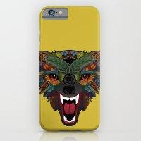 wolf fight flight ochre iPhone 6 Slim Case