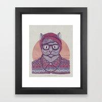 So Hipster Framed Art Print