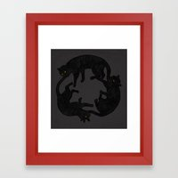 vicious circle Framed Art Print