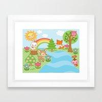 Sweet Forest Print Framed Art Print