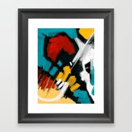 Framed Art Print featuring Composition by Mystudio69