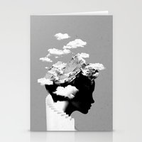 Stationery Card featuring It's a cloudy day by Robert Farkas